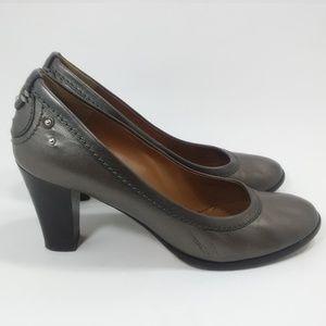 CHLOE Grey Leather Pumps Size 40 US 10